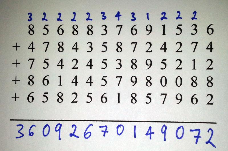Elementary Arithmetics - Addition (quiz and brief tutorial)